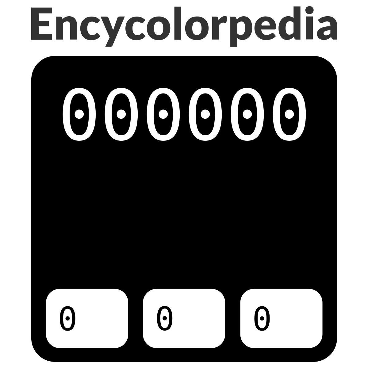 black    noir     000000     000 sch u00e9mas de couleurs hexad u00e9cimal et peintures