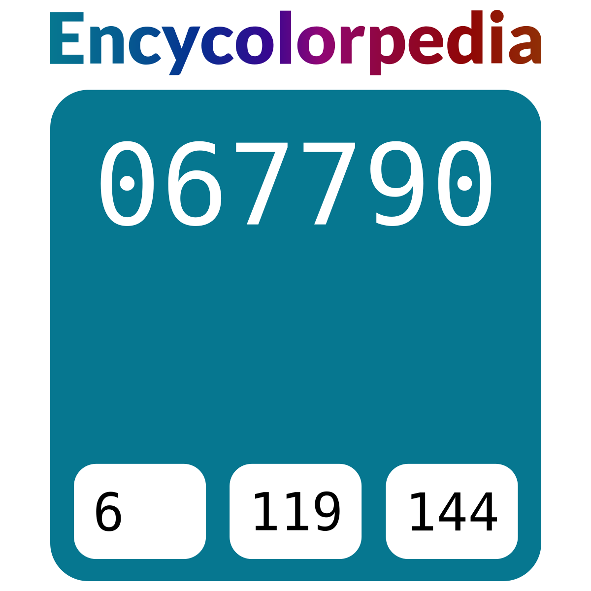 Bleu Paon 067790 Schémas De Couleurs Hexadécimal Et Peintures