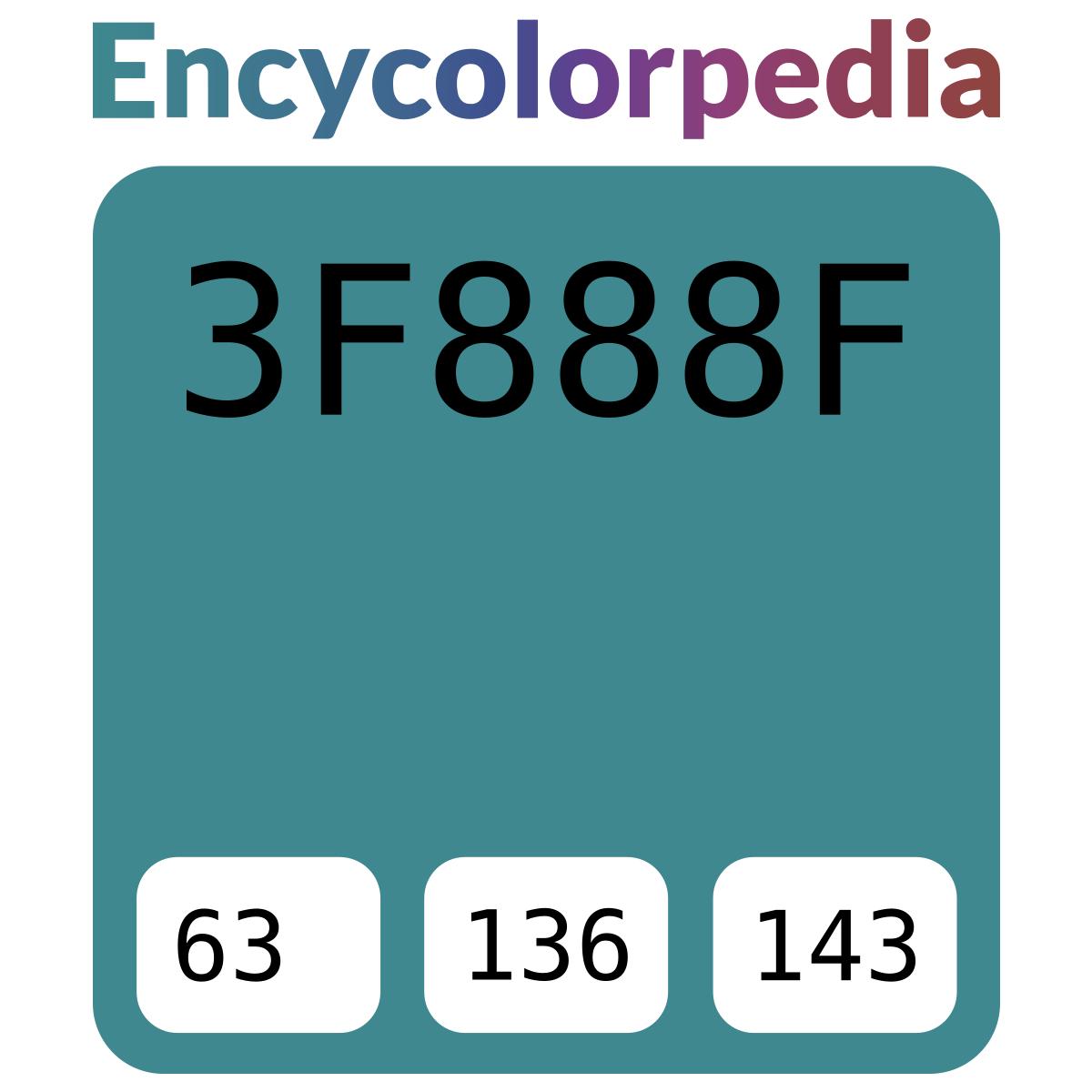 3f888f Schémas De Couleurs Hexadécimal Et Peintures