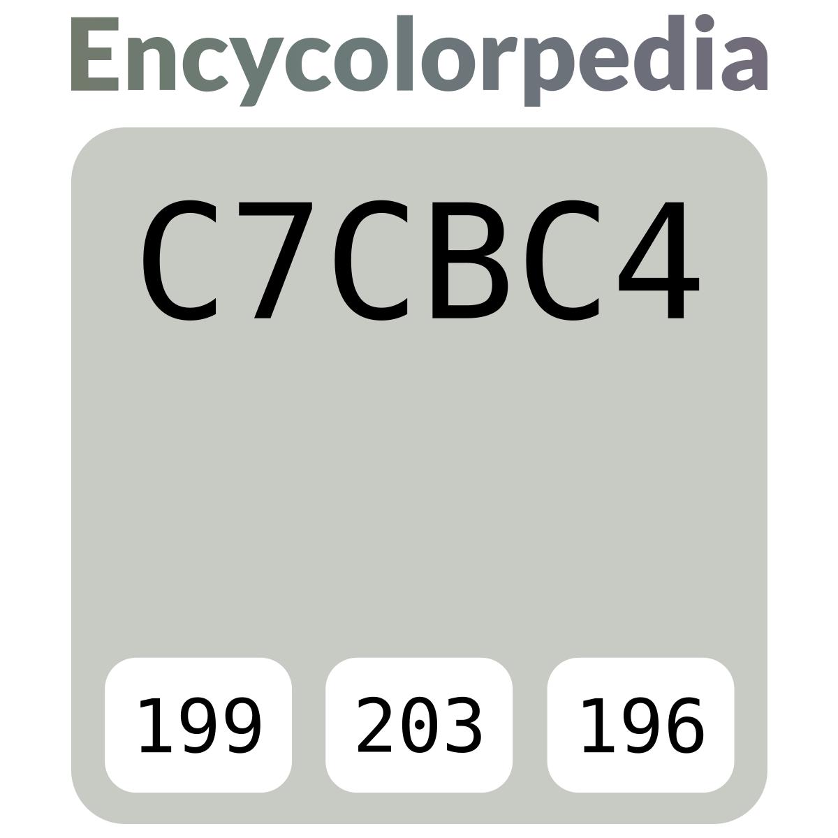 C7cbc4 Schémas De Couleurs Hexadécimal Et Peintures