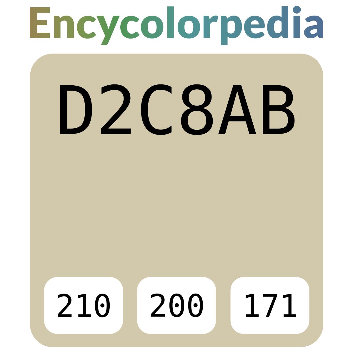 Code Couleur Vert Sauge nerolac gucci - 2675 / #d2c8ab schémas de couleurs