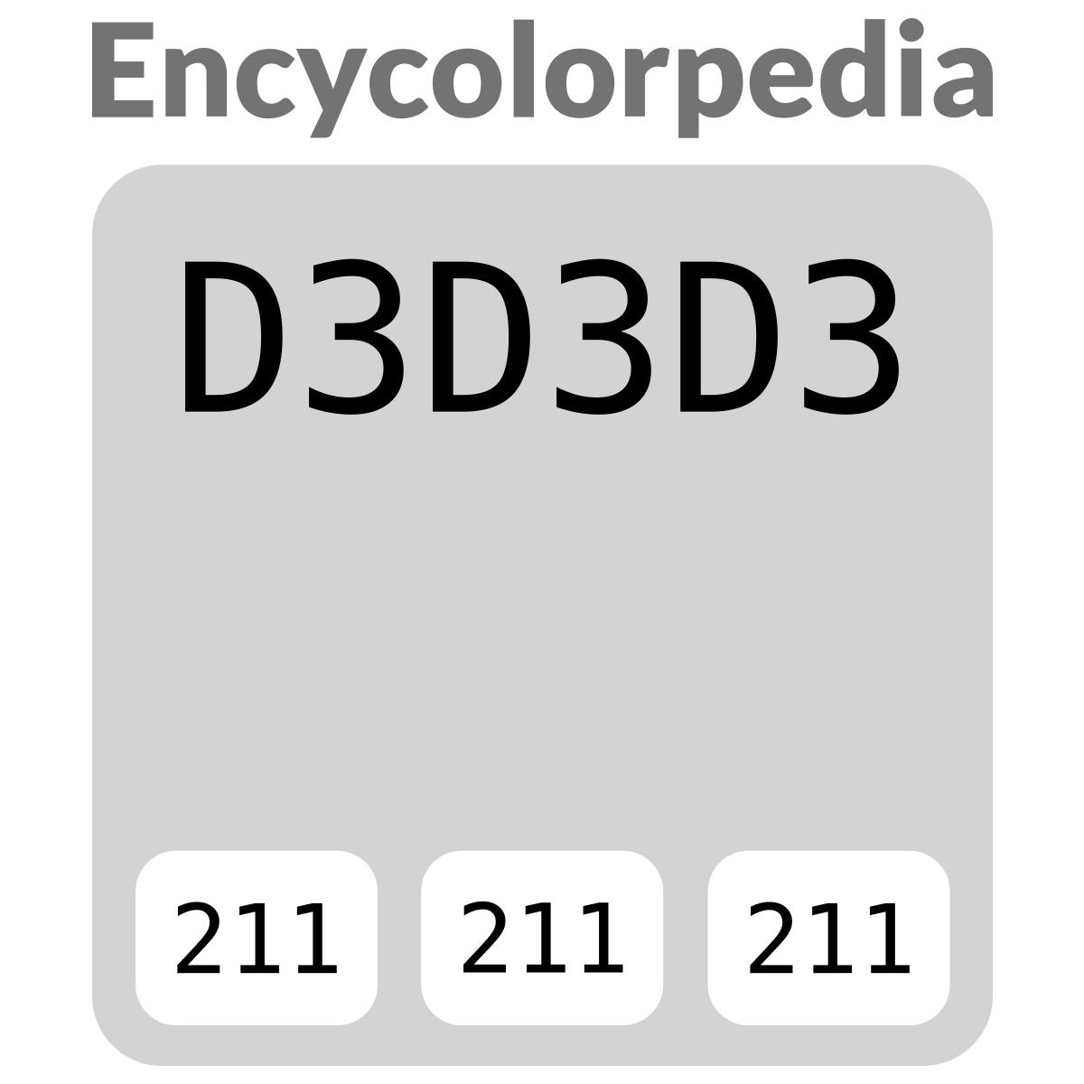 Lightgray D3d3d3 Schémas De Couleurs Hexadécimal Et Peintures