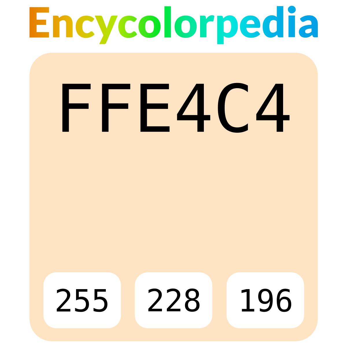new arrival c879a 17e5c Bisque    ffe4c4 Schémas de Couleurs Hexadécimal et Peintures